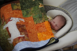 Aunt Melody's quilt for Clark
